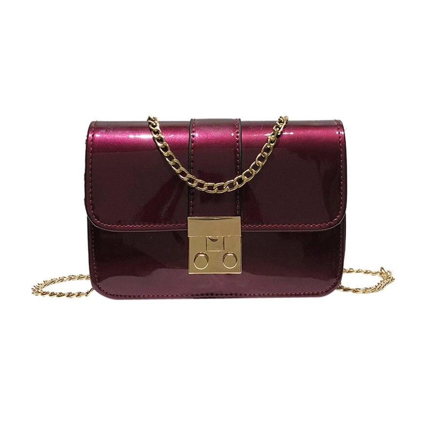 New Arrival Women Girl Fashion Patent Leather Flap Bag Padlock Crossbody Shoulder Bag Ladies Brand New messenger bags bolsos S