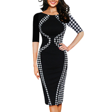 Sexy Bodycon Short Sleeve Women Dresses Business Style Pencil Dress Clothing for 9.4