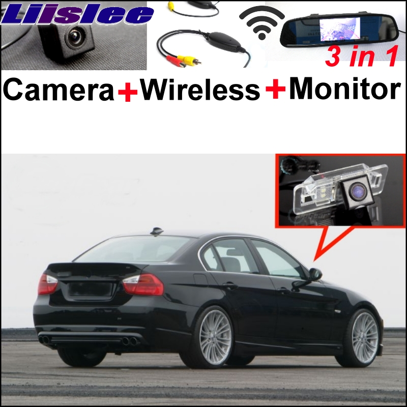 Liislee Special WiFi Rear View Camera + Wireless Receiver + Mirror Monitor Easy DIY Parking Back up System For BMW 3 E46 E90 E91 3 in1 special rear view camera wireless receiver mirror monitor easy diy back up parking system for kia sportage r 2011 2015