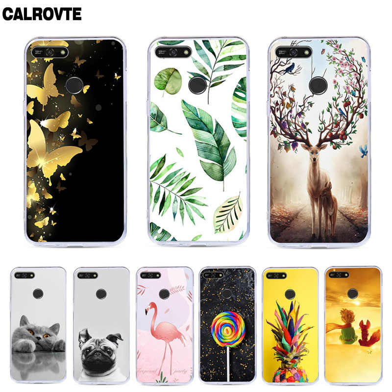 For Huawei Honor 7A / Honor 7A Pro / Y6 2018 / Y6 Prime 2018 / Enjoy 8e Case Cover Silicone Coque For Huawei Y6 2018 Case Cover