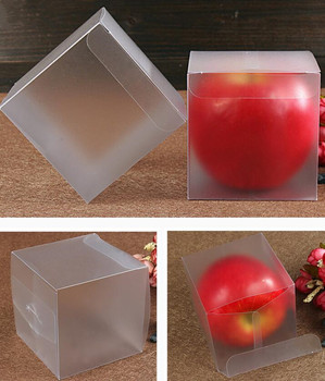6*6*6cm 210Pcs/Lot PVC Matte Clear Plastic Pack Boxes Wedding Gift Party Favor Chocolate Package Box for Event Party Supplies