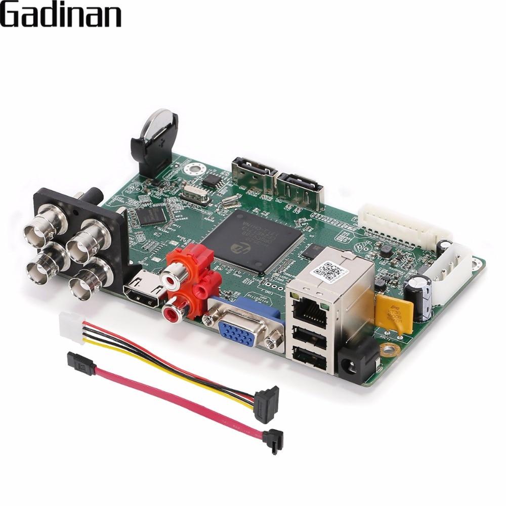 GADINAN AHD DVR 4CH 2MP 1080N H.264 TVI CVI AHD Analog IP 5 IN 1 Hybrid Video Recorder Security CCTV Surveillance Main Borad azishn 8ch ahdnh 1080n hi3520d dvr main pcb analog ip ahd tvi cvi xvi 5 in 1 dvr support 8ch ahd 1080n 4ch 1080p playback
