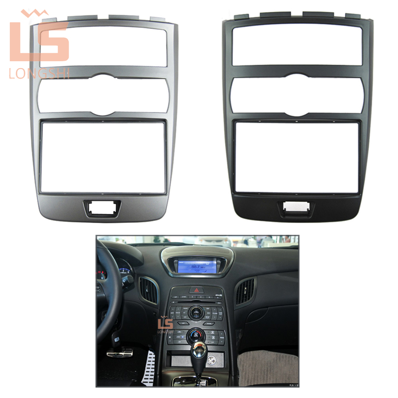 Car fascia for 2009-2012 Hyundai Rohens Coupe,2 DIN(Auto AC, Left LHD)Dash Mount Kit Adapter Trim dvd frame/audio panel ,2din new car radio fascia for nissans frontier xterra 2009 2012 facia frame panel dash mount kit adapter for suzuki equator 2009 2012