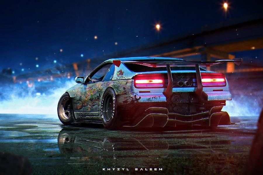 Hd Nfs Cars Wallpapers Diy Frame Khyzyl Saleem Nissan 300zx Futuristic Car Art