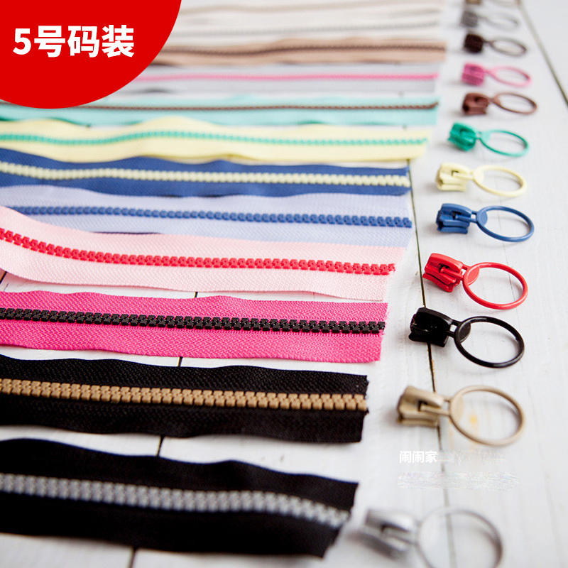 No. 5 Resin Color Color Zipper Double Open End Diy Zipper