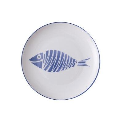 8-дюймовая керамические тарелки, фарфоровая тарелка, костяные блюда из Китая, милые рыбные тарелки, посуда фарфоровые,сине-белые фарфоровая посуда, стейк Ужин Блюдо, фарфор Столовая посуда салат торт блюдо - Цвет: Pattern C
