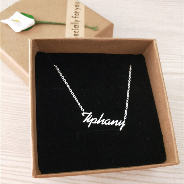 Custom Name Necklace Personalized Actual Handwriting Signature Pendant Necklace Women Men Choker Jewelry Customized Gift For Her