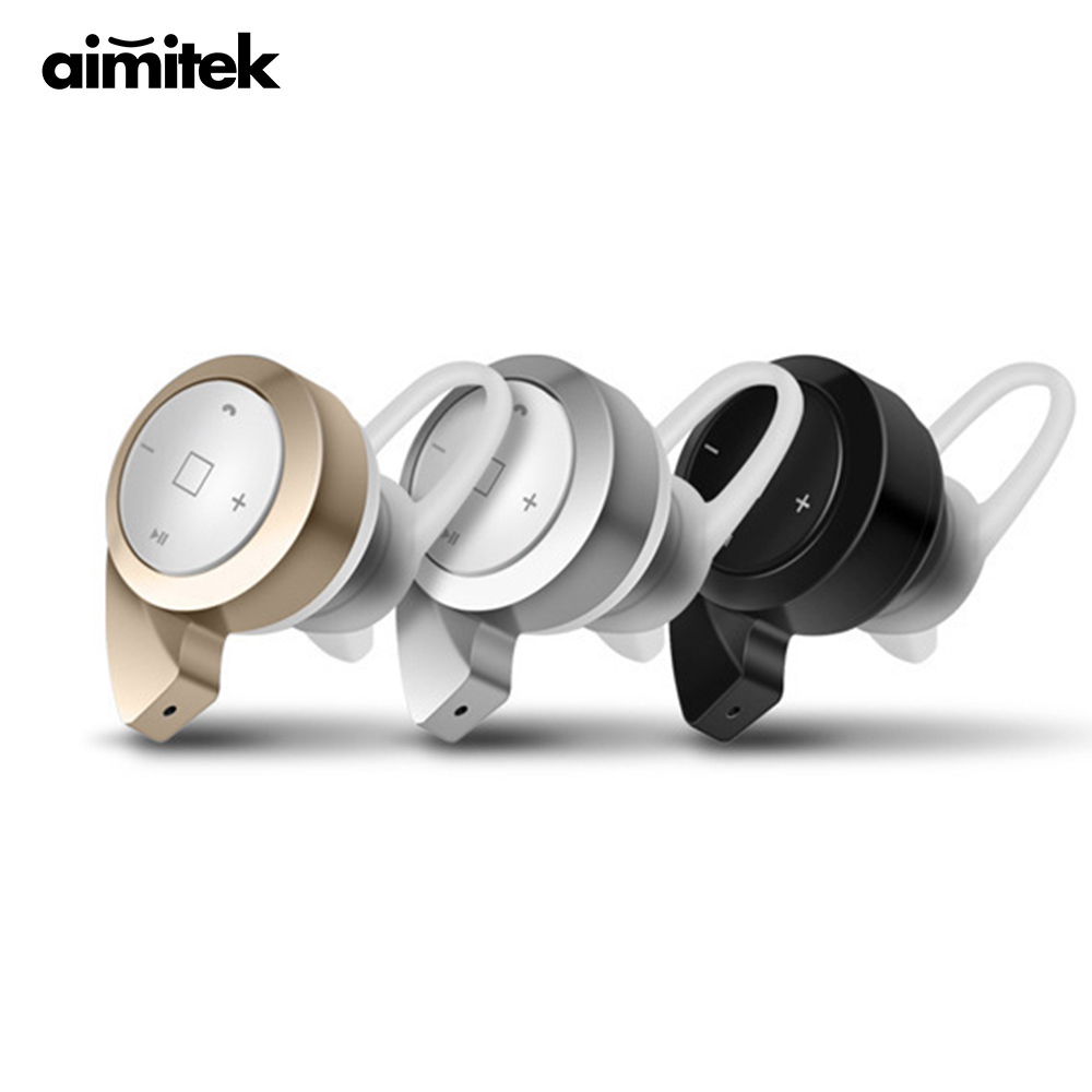 Aimitek Mini Wireless Bluetooth Earphone In-ear Earbud Stereo Stealth Invisible Noise-cancellin Headset With Mic for Smart Phone bluetooth headset stealth wireless mini ultra small 4 0 ear earphones sport 4 1 invisible ear to ear design