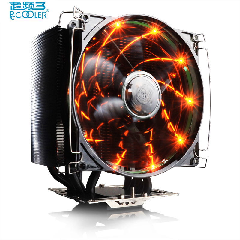 PcCooler S126 4pin PWM 12cm 10pcs led fan 5*8mm heatpipes all black cpu cooler amd intel cpu cooling ratidor fan quiet silent pccooler s126 4pin pwm 12cm 10pcs led fan 5 8mm heatpipes all black cpu cooler amd intel cpu cooling ratidor fan quiet silent