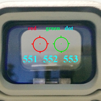 Spor ve Eğlence'ten Nişan Dürbünleri'de 551 552 553 Kırmızı Yeşil Nokta Holografik silah nişan dürbünü Avcılık Kırmızı Nokta yansımalı nişangah Tüfek 20mm Dağı Airsoft Tabanca Için