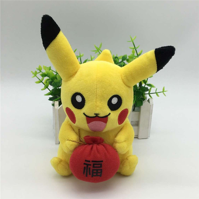 New Style Pikachu Plush Toys Halloween Cosplay Cotton Soft Stuffed Animals Plush Pikachu Dolls Children Toy Kids Christmas Gifts