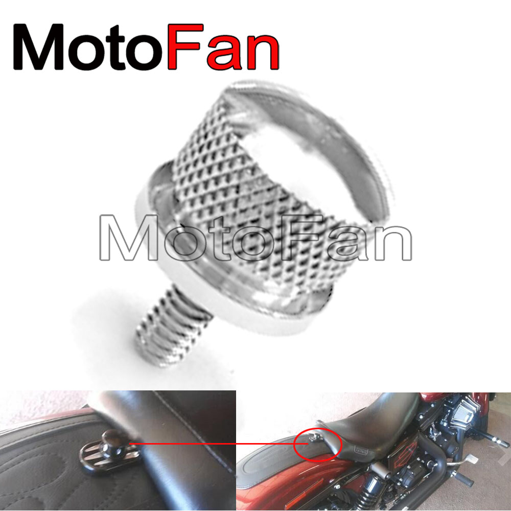 Motorcycle Seat Bolt Screw Cover Replacement 1/4 Thread Silver for 96-17 Harley Davidson Dyna Electra Glide Softail Roadking chrome custom motorcycle skeleton mirrors for harley davidson softail heritage classic