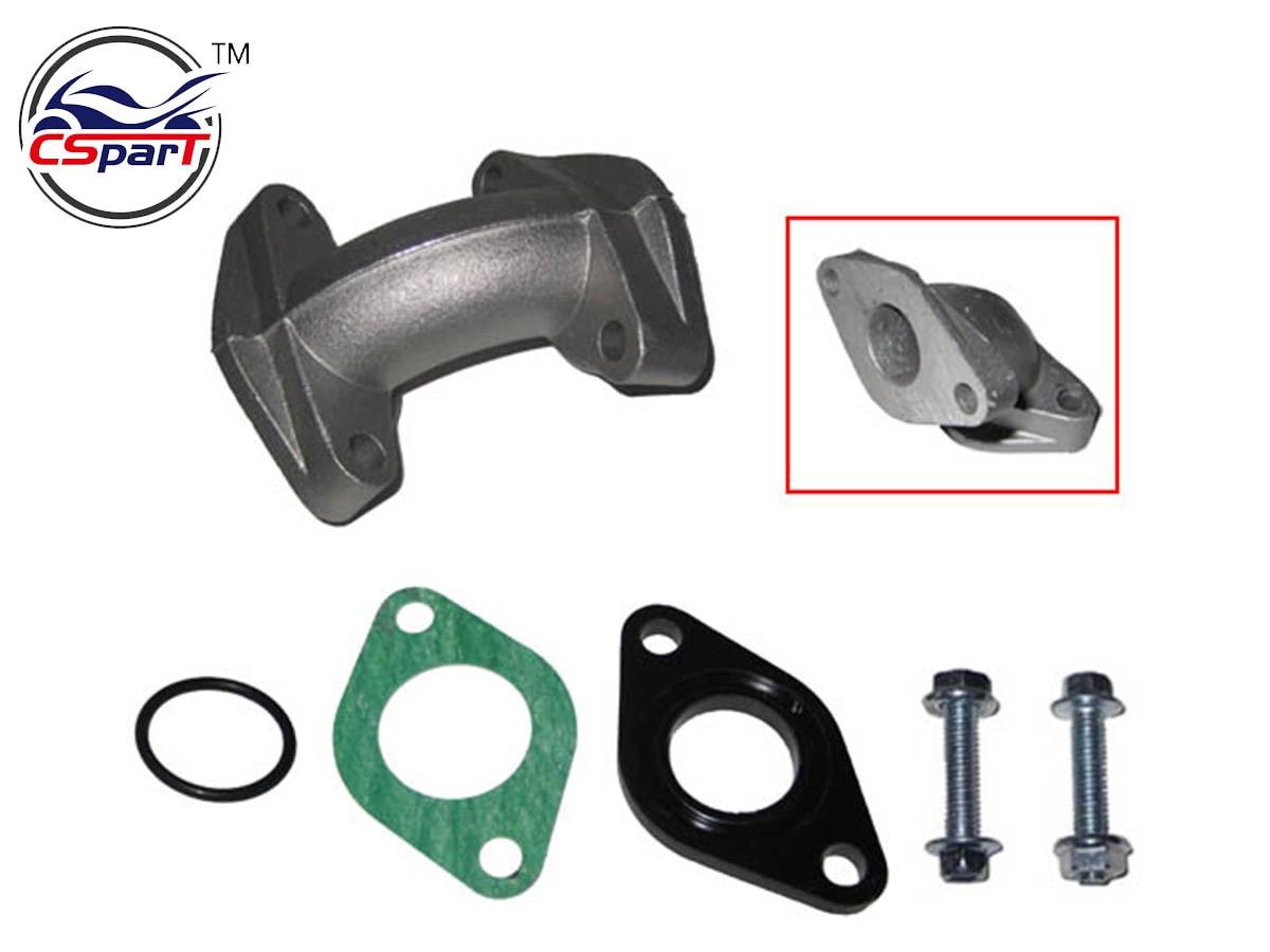 Honest 19mm Intake Manifold Kit With Gasket 50cc 70cc 90cc 110cc Atv Quad Taotao Kaya Apollo Lifan Sunl Dirt Pit Bike Parts Excellent In Quality