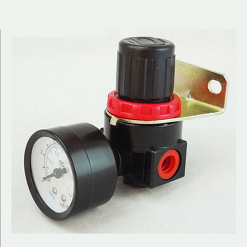 High Quality AR2000 Air Gas Control Compressor Pressure Regulating Regulator Valve Controller relief valve PT1/4 compressor air control pressure gauge relief regulating regulator valve with 6mm hose fittings
