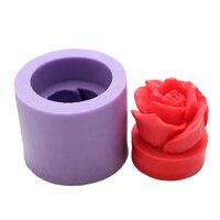 3D силиконовая форма в виде розы Мыло Свеча Плесень Для ручной работы Смола глина плесень шоколад украшение для помадной глазури инструмент