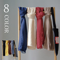 2017 Spring New Unisex Long Scarf 8 Colors Solid Fashion Cotton Blends Wraps & Shawls For Lovers