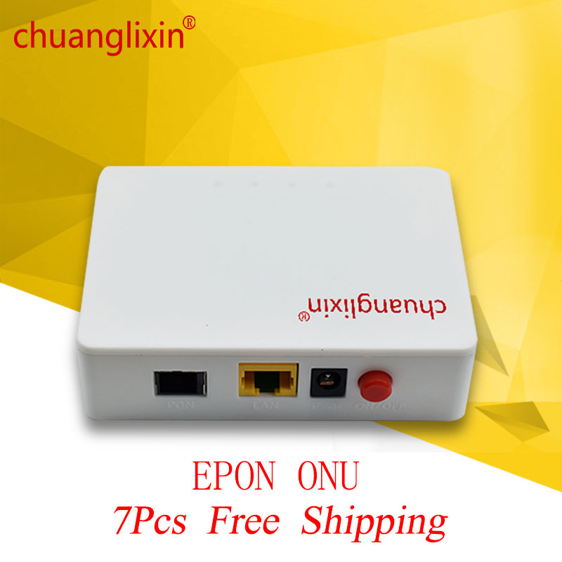 7Pcs chuanglixin 1G GEPON 1port ONU EPON OLT 1 25G gepon onu EPON ONU ftth in Fiber Optic Equipments from Cellphones Telecommunications