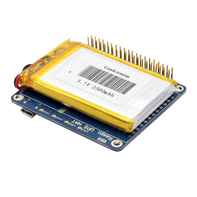 1 шт. Новое поступление UPS шляпа доска + 2500 мАч литиевых Батарея для Raspberry Pi 3 Модель B/Pi 2B/B +/+ Совета модуль