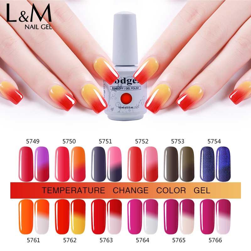 3 buc Gel de temperatura UV polonez Set de unghii Gel Profesionale - Manichiură