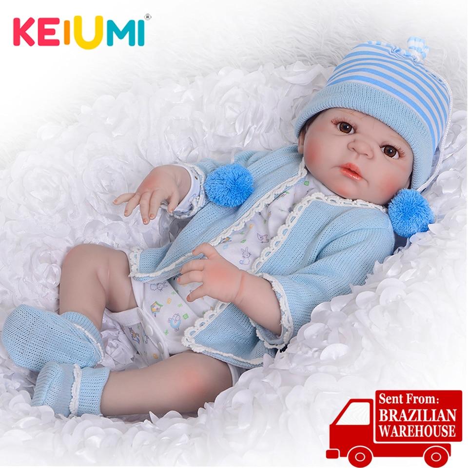 23 ''schöne Reborn Baby Puppen Voll Körper Silikon Realistische Baby Puppe Junge Spielzeug Für Kinder Geburtstag Geschenke Echt Lebendig neugeborenen Baby-in Puppen aus Spielzeug und Hobbys bei  Gruppe 1