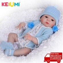 23 인치 사랑스러운 다시 태어난 아기 인형 전신 실리콘 현실적인 아기 인형 소년 장난감 아이를위한 생일 선물 진짜 살아있는 신생아