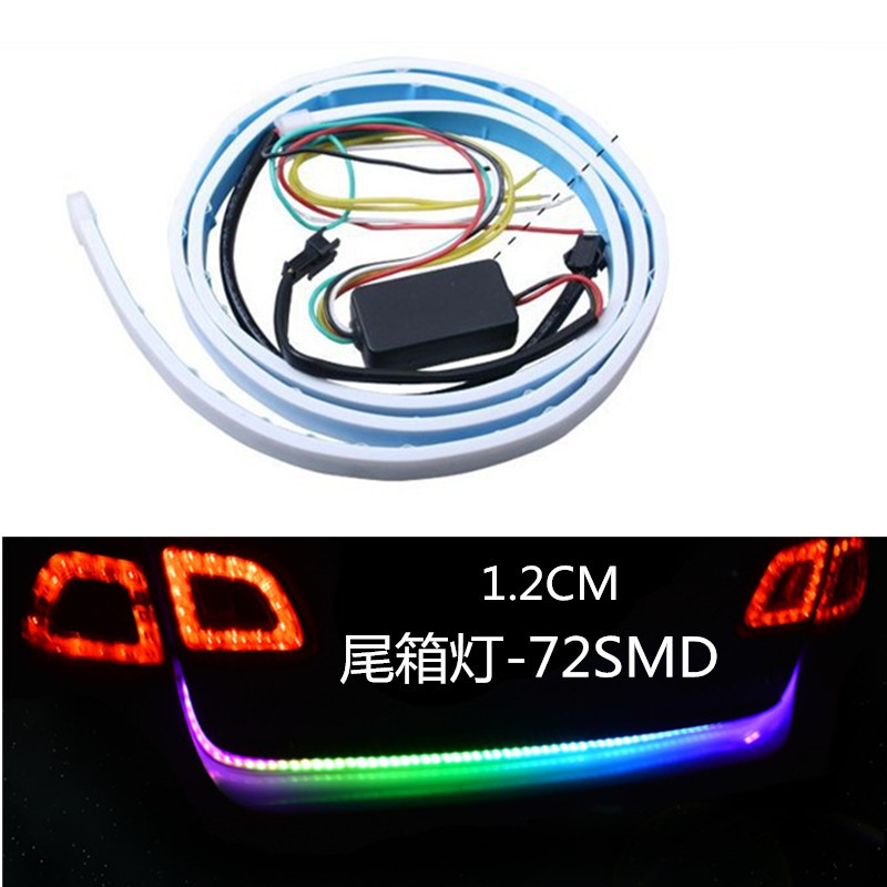 1set RGB Led 12v Truck Rear Tail Lights Led Lamp Auto Strip Lighting Turn Signal drl Running Light Led Warning Light Car-styling dc 12 24v car rear warning light licence plate lamp tail lamp 12leds car styling round led number plate light