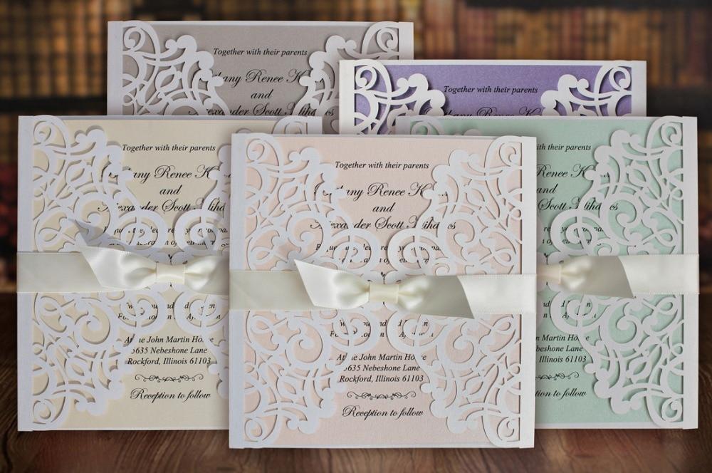 Aliexpresscom buy white wedding invitations cards with for Buy wedding invitations in store