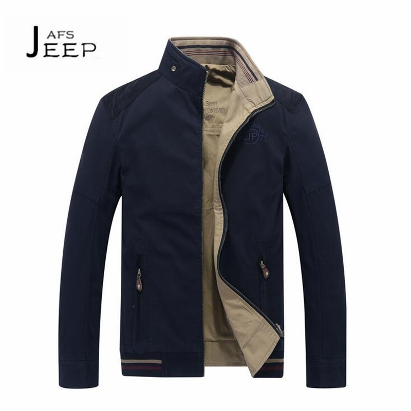 JI PU Double Side Mans Winter/Autumn Cotton Jacket, Stand collar Worker working cargo causal breathable cardigan outwear