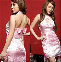 Sexy Lingerie Short Cheongsam Dress Festive Sisters Bridesmaid Dresses DS Stage Clothing