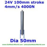 24 V 4 мм/сек. скорость 100 мм 4 дюйма хода 4000N 400 кг 880 LBSload трубный, линейный двигатель в линии линейный привод постоянного тока LA18 Лидер продаж