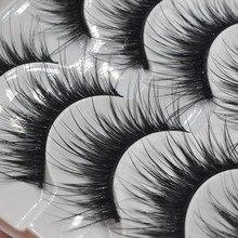 Nowe 5 par naturalne rzęsy makijaż sztuczne rzęsy długie czarne sztuczne rzęsy grube przedłużanie rzęs makijaż 005