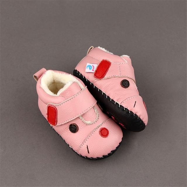 2017 Baby First Walker Shoes Winter Newborns Boys Girls Shoes Rubber Light Newborns Kids Rug Lovely Footwear Home Warm 60A1007