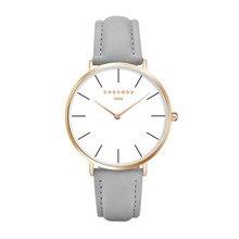 Дропшиппинг Relojes Hombre ультра-тонкий молодежная мода красочные, женские часы мужские кожаные пара наручные часы Relogios Femininos
