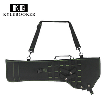 29 inch Tactical MOLLE Rifle Gun Scabbard Pouch with Padded Shoulder Strap Airsoft Combat Hunting Shot gun Bag Holster Backpack