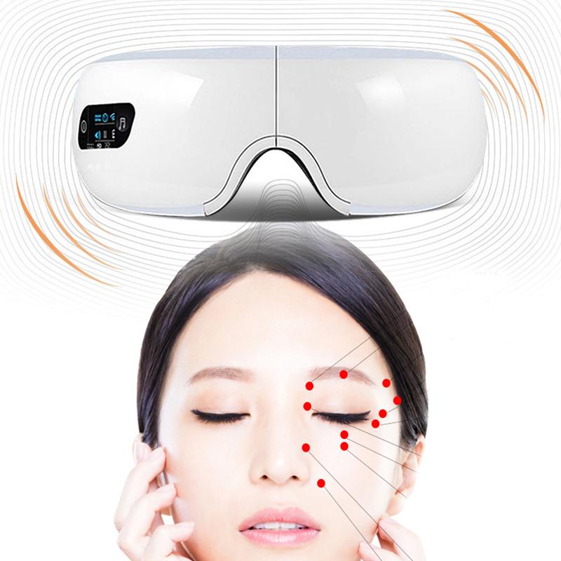 Eyes Massager Electric Wireless Magnetic Vibration Air Pressure Music Heating Therapy Massage Relaxation Portable Folding Device недорого