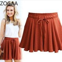 ZOGAA Summer Women Shorts High Waist Loose Cotton Plus Size 5XL Elegant Female Slacks Large Casual Beach Bow Shirts