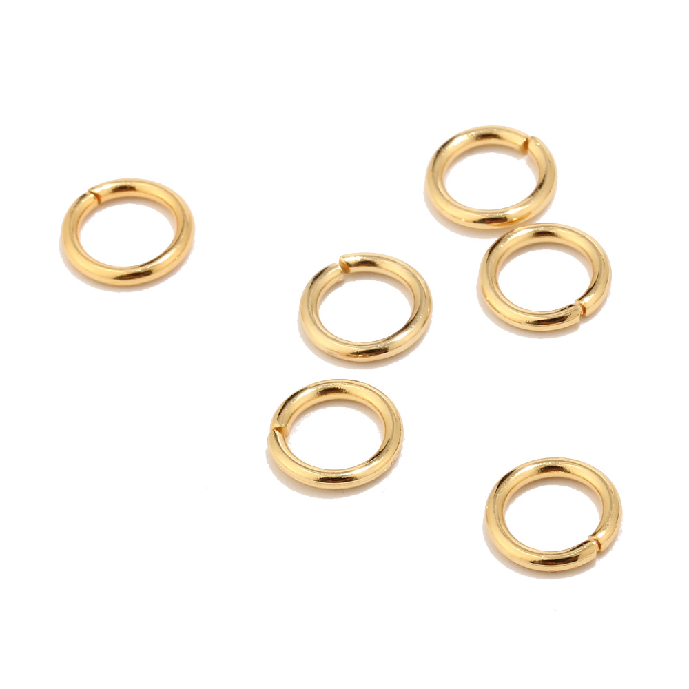 200pcs 18K Gold Stainless Steel Lobster Clasps And 3.5mm 4mm 5mm 6mm 7mm 8mm 9mm 10mm Open Jump Rings Jewelry Making Findings