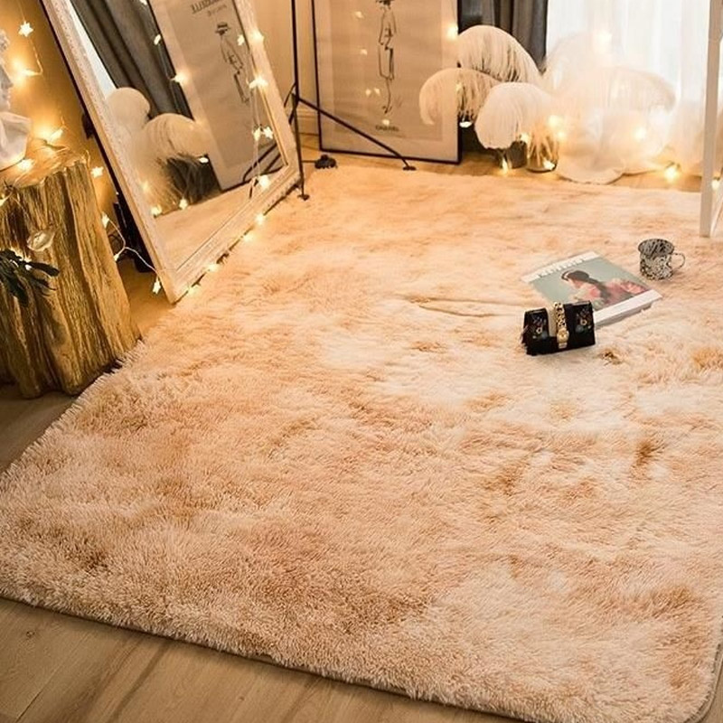 Polyester Fiber Carpet Floor Fluffy Rugs Shaggy Anti Skid Decoration Bedroom Area Rug for Home Drop Shipping 160x120cm Fluffy