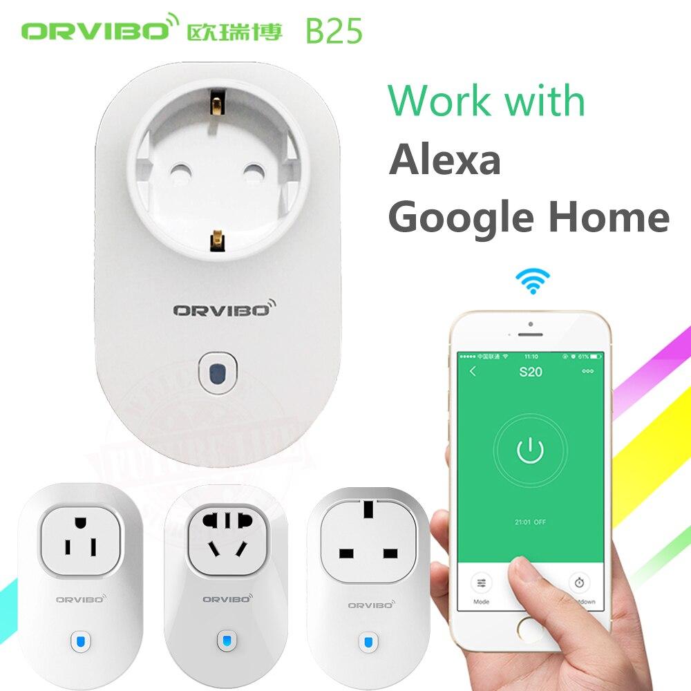 Alexa Google Home Orvibo Home Automation B25 EU U UK AU Smart Power Socket Plug 4G