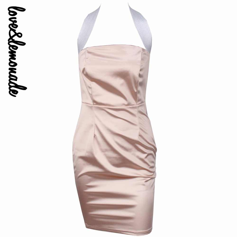 Liefde & Limonade. Roze Slim Shiny Band Party Dress TB 10191