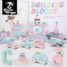 DIY Big Size Duplo Wheat straw Enlighten Building Block Constructor bricks toys for childern