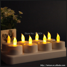 New Hot 8pcs set Velas Led Candle Rechargeable font b Electronic b font Candle Happy Birthday