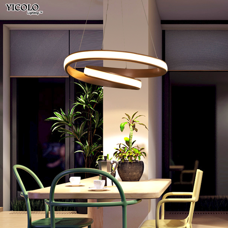 Creative modern round LED pendant Lights S 47W M65W adjustable height hanging lamp dining room restaurant living room AC85V-260V creative modern round led pendant lights adjustable height hanging lamp dining room restaurant living room pendant lamp fixtures