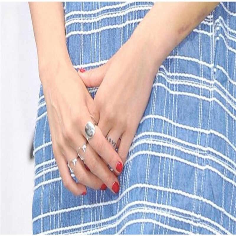 "Hot Korean Drama ""can not love ah"" Ring European and American Jewelry Manufacturers Wholesale Kong Xiaozhen Mix Of Hollow Ring"