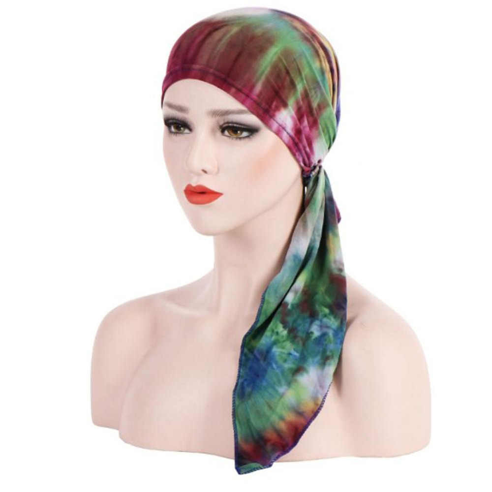 Detalle Comentarios Preguntas sobre 2018 nuevas mujeres de impresión  sombrero turbante India Cap musulmanes Chemo Cap quimioterapia gorro  sombrero para ... 90dca130b4d