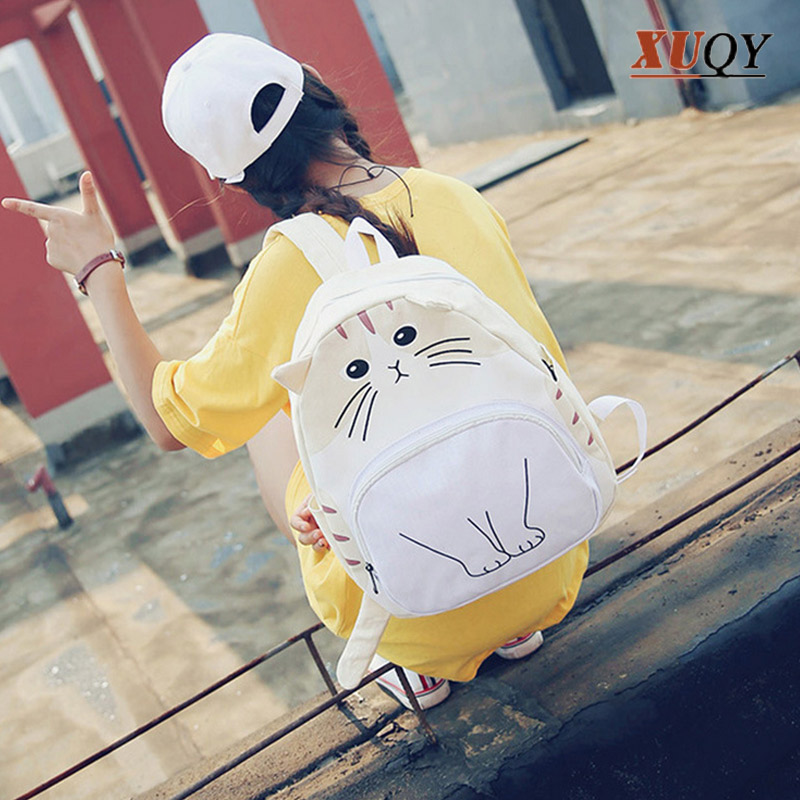 New Women Bag Funny Cartoon Cat Backpacks Personality Fashion Leisure Students Backpack MT100745