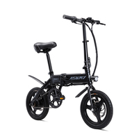 14inch folding electric bike Portable mini adult e bike Two disc brakes electric bicycle City travel electric scooter