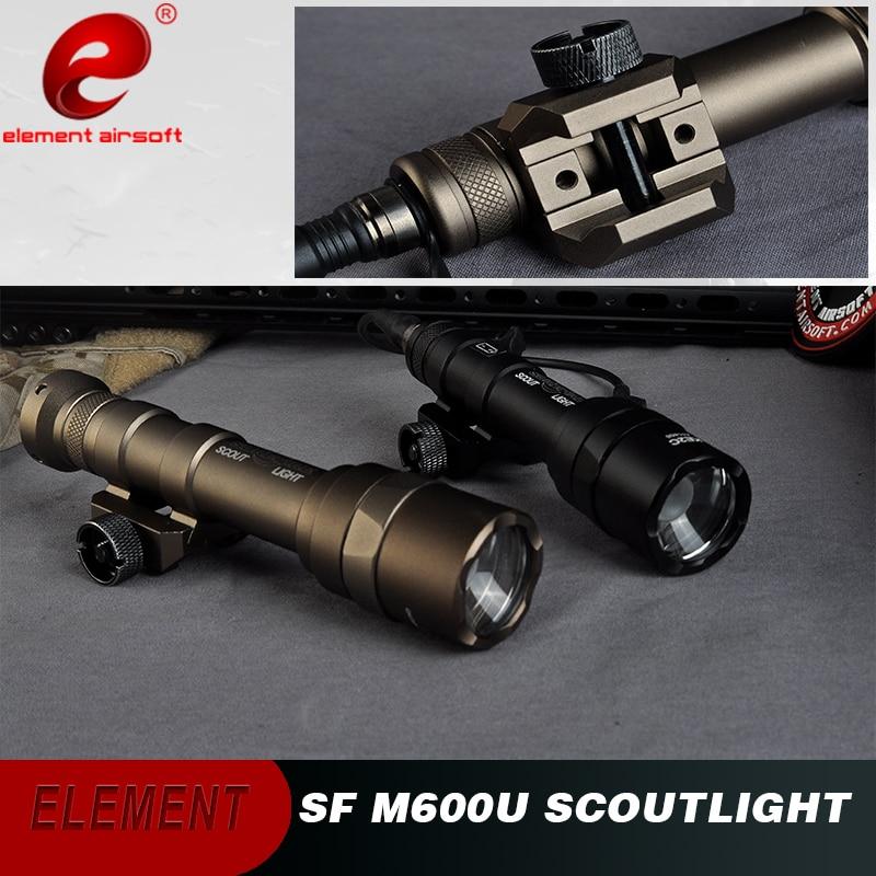 Element Surefir M600 Tactical Flashlight Picatinny 500 Lumen Airsoft Weapon Rifle Light M600U Hunting Flashlight For
