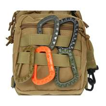 Mendaki Hang Outdoor Camp Klip Hook Snap Bushcraft Anyaman Kait Gantungan Carabiner Mendaki Gesper Mountain QuickDraw Melampirkan Web Molle(China)