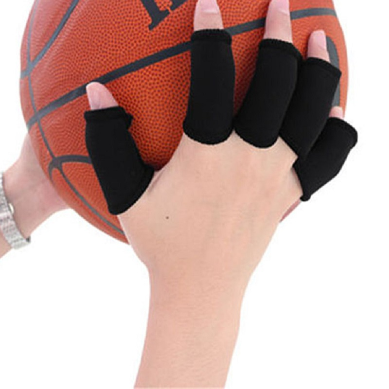 CHRISTY HARRELL 10Pcs Finger Sleeve Protector Sports Protective Gear Guard Support Wraps Basketball Volleyball Football Finger Stall Sleeve Protection Gloves